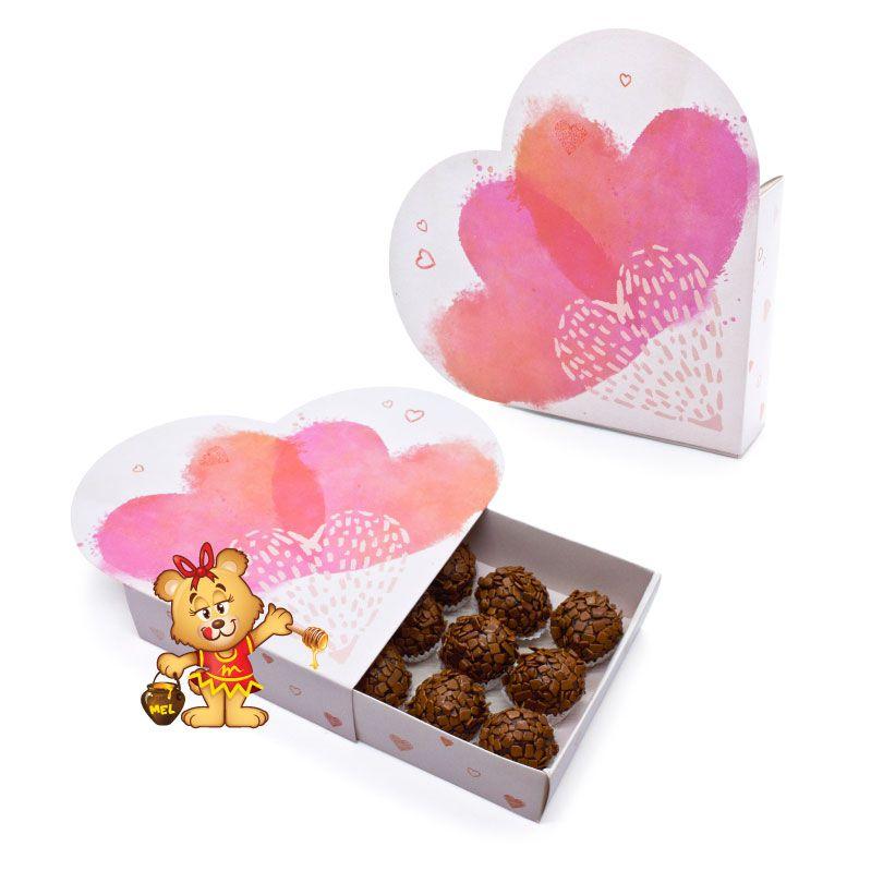 Caixa Love Brigadeiros  - www.doceriamirabella.com.br