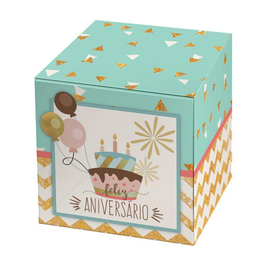 Caixa para 1 Doce Aniversário - 4 unidades  - www.doceriamirabella.com.br