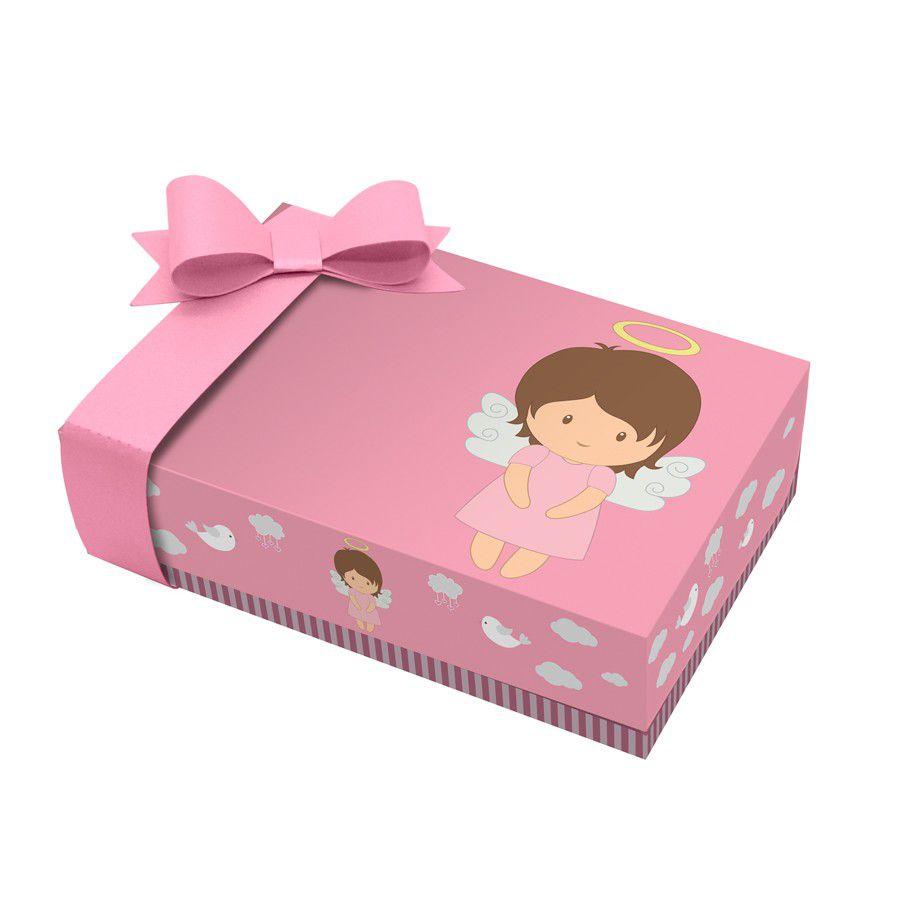 Caixa para Mini Doces Batizado Menina - 2 unidades  - www.doceriamirabella.com.br