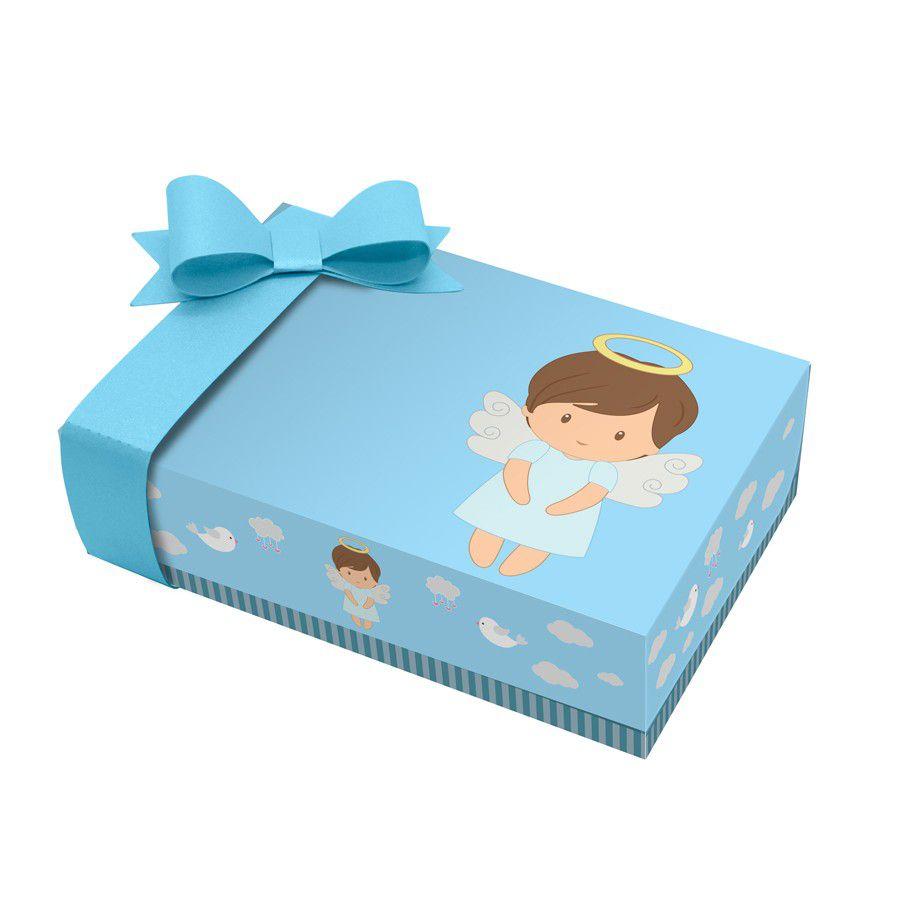 Caixa para Mini Doces Batizado Menino - 2 unidades  - www.doceriamirabella.com.br