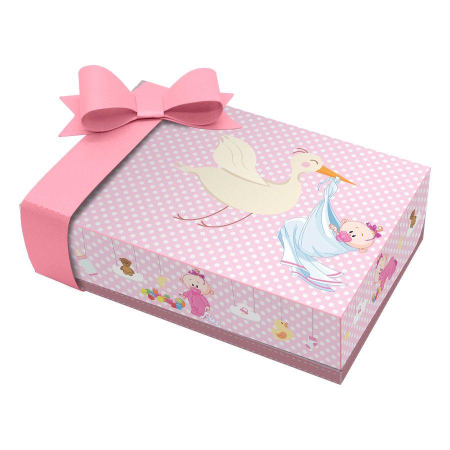 Caixa para Mini Doces Chá de Bebê Menina - 2 unidades  - www.doceriamirabella.com.br