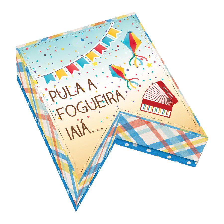 Caixa para Mini Doces Festa Junina - 2 unidades  - www.doceriamirabella.com.br