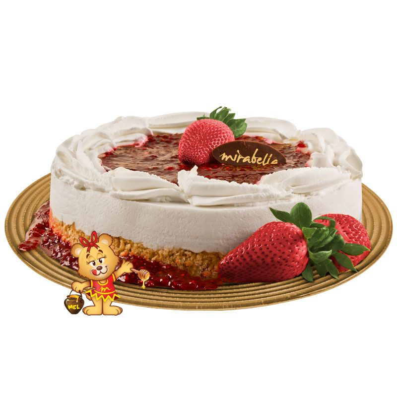 Cheesecake de Framboesa  - www.doceriamirabella.com.br