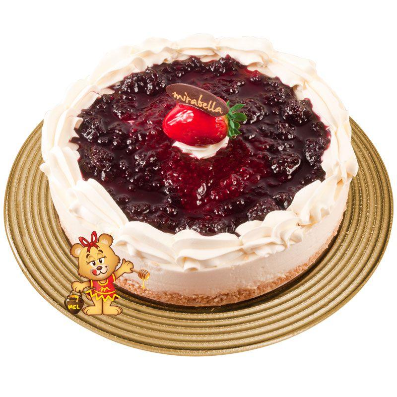 Cheesecake de Frutas Vermelhas  - www.doceriamirabella.com.br