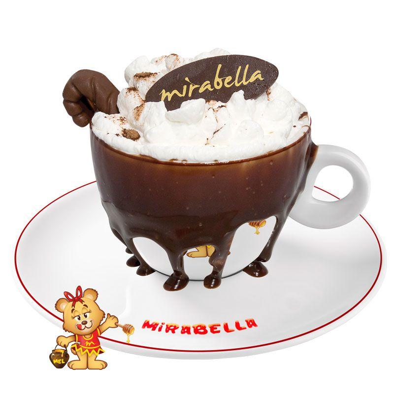 Chocolate de Brigadeiro com Borda de Nutella  - www.doceriamirabella.com.br