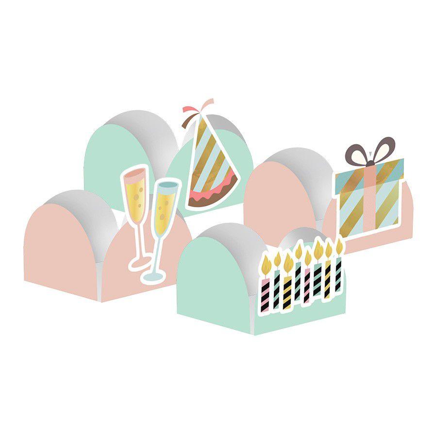 Forminha para Doces Aniversário - 24 unidades sortidas  - www.doceriamirabella.com.br