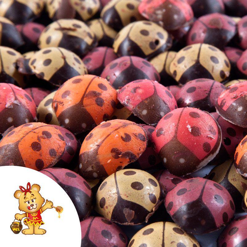 Joaninha de Chocolate - pedido mínimo 100g  - www.doceriamirabella.com.br