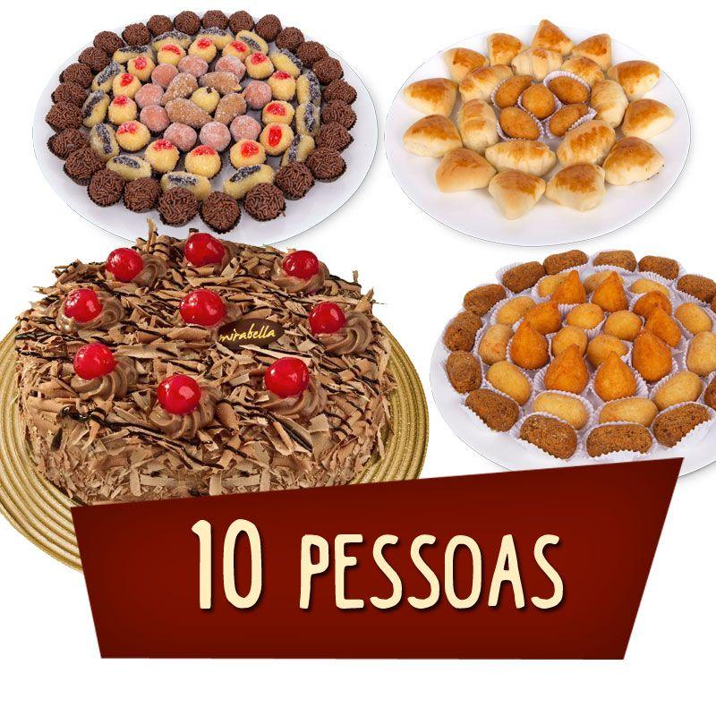Kit Festa 10 Pessoas  - www.doceriamirabella.com.br