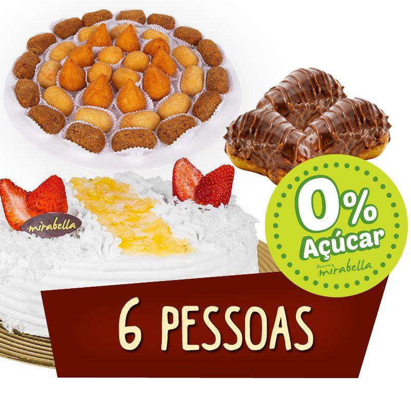 Kit Festa - 6 Pessoas - DIET  - www.doceriamirabella.com.br