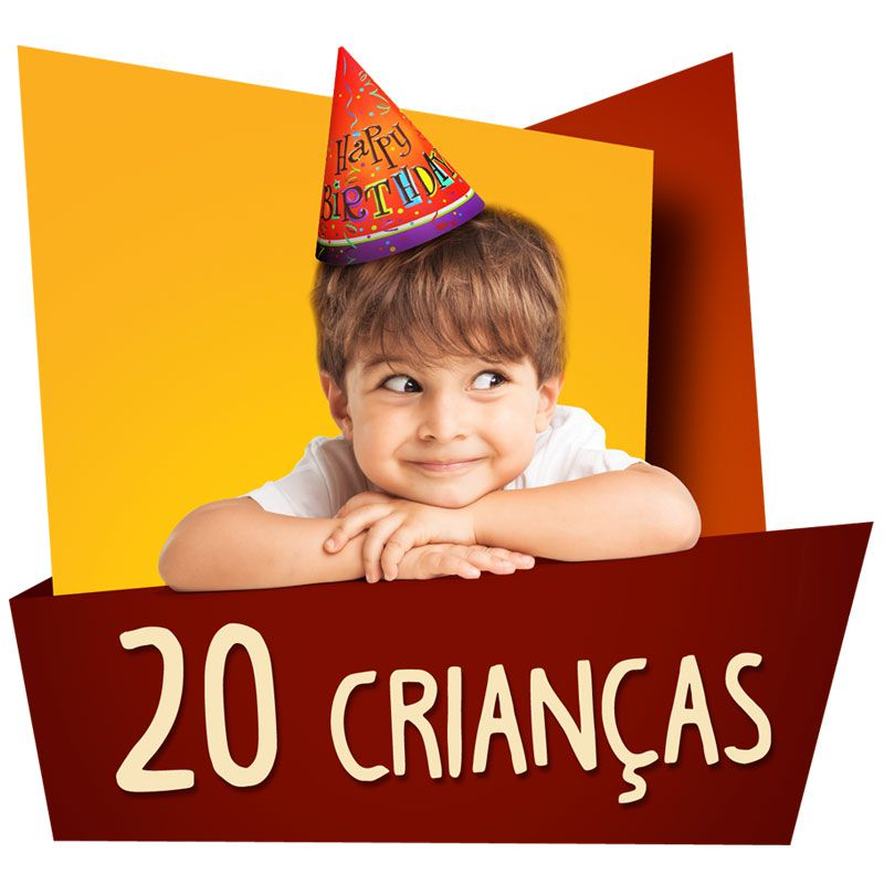 Kit Festa Kids 20 Crianças  - www.doceriamirabella.com.br