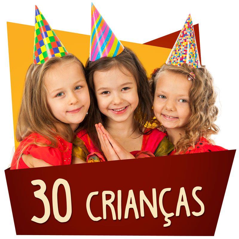 Kit Festa Kids 30 Crianças  - www.doceriamirabella.com.br