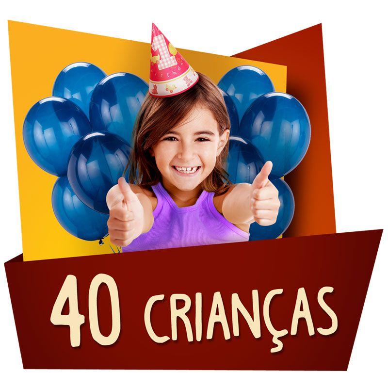 Kit Festa Kids 40 Crianças  - www.doceriamirabella.com.br