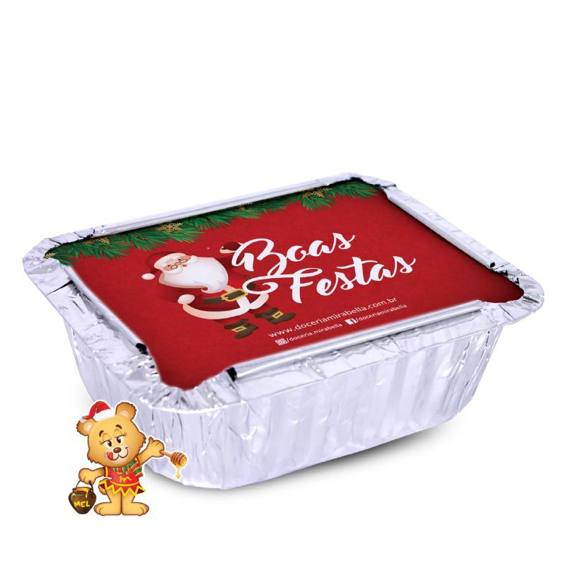 Mini Marmita Personalizada de Natal  - www.doceriamirabella.com.br