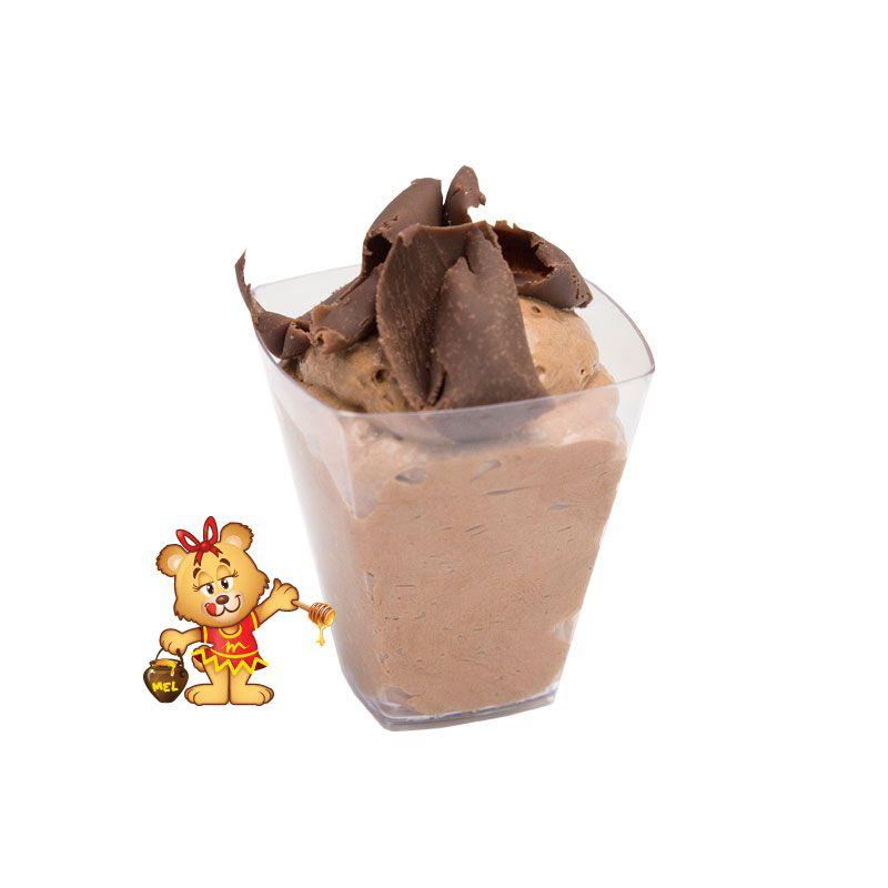 Mini Mousse de Chocolate - Kit com 25 unidades  - www.doceriamirabella.com.br