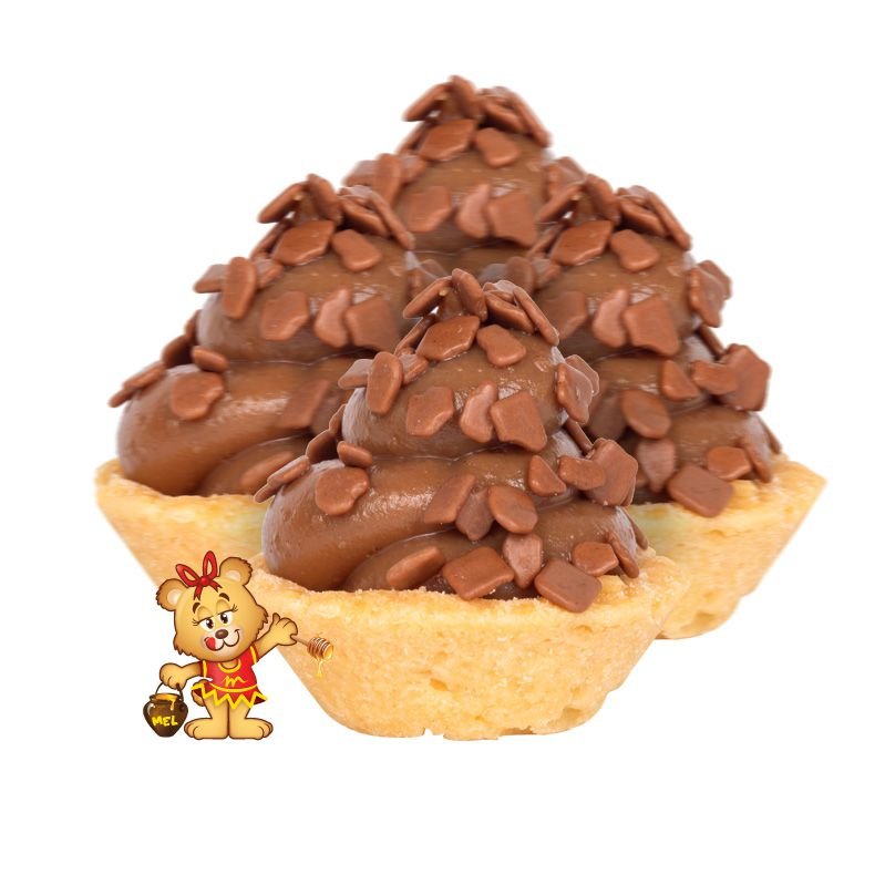 Mini Torta de Chocolate - Kit com 25 unidades  - www.doceriamirabella.com.br