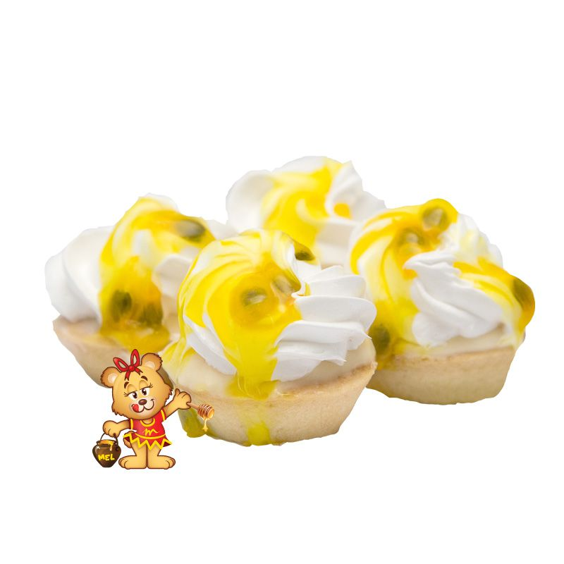 Mini Torta de Maracujá - Kit com 25 unidades  - www.doceriamirabella.com.br