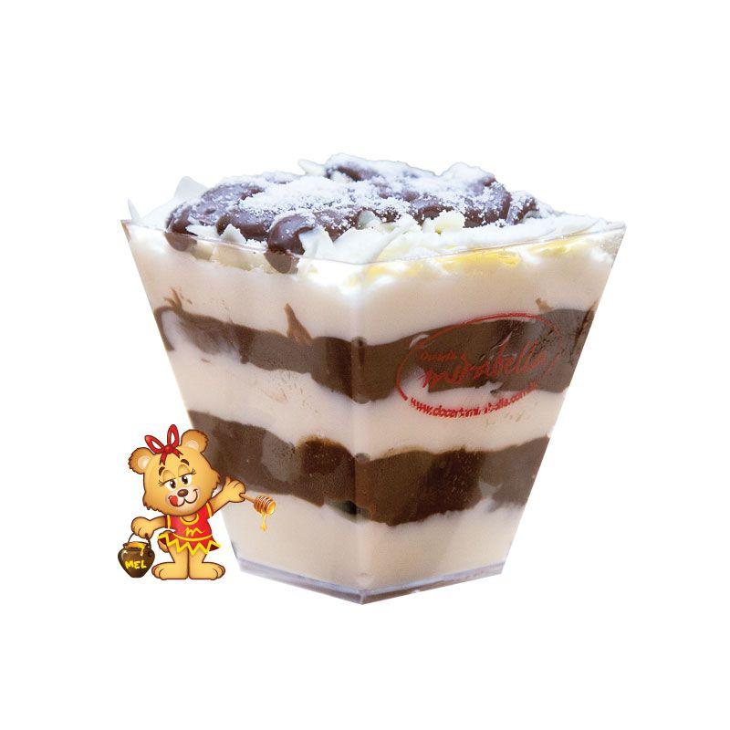 Mousse de Leite em Pó com Nutella  - www.doceriamirabella.com.br
