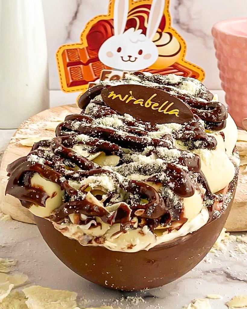 Ovo de Colher Ninho c/ Nutella  - www.doceriamirabella.com.br
