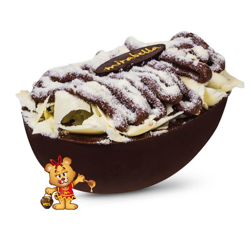 Ovo de Colher Ninho c/ Nutella - 350g  - www.doceriamirabella.com.br