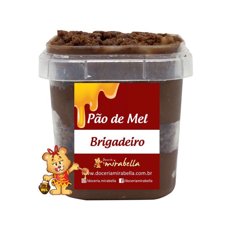 Pão de Mel no Pote - Brigadeiro  - www.doceriamirabella.com.br