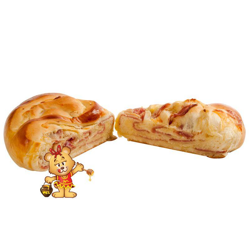 Pão Folhado de Salame com Queijo (aprox. 850g)  - www.doceriamirabella.com.br