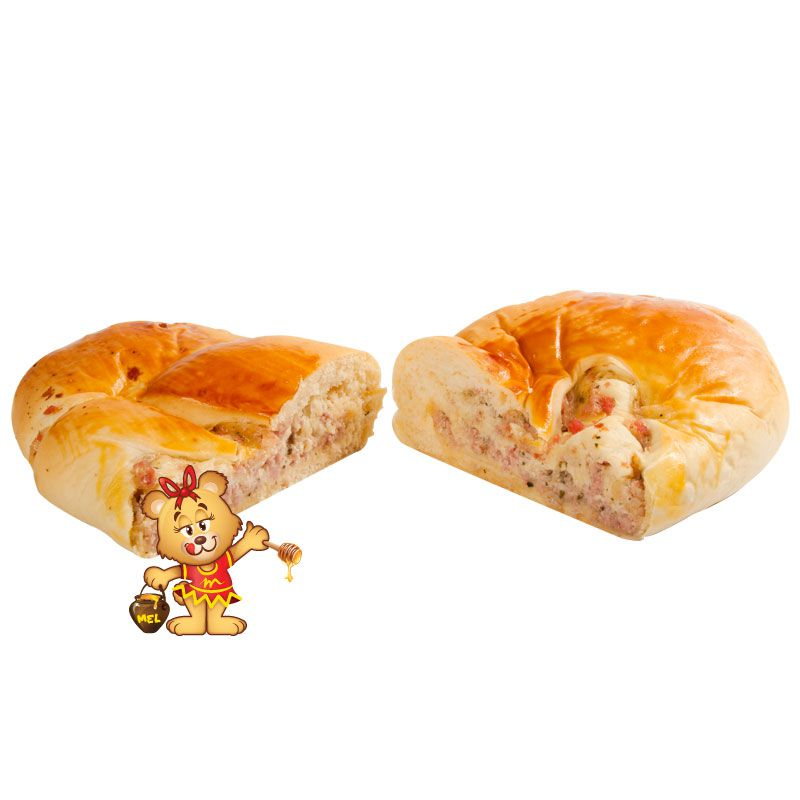 Pão Folhado Presunto e Queijo (aprox. 850g)  - www.doceriamirabella.com.br