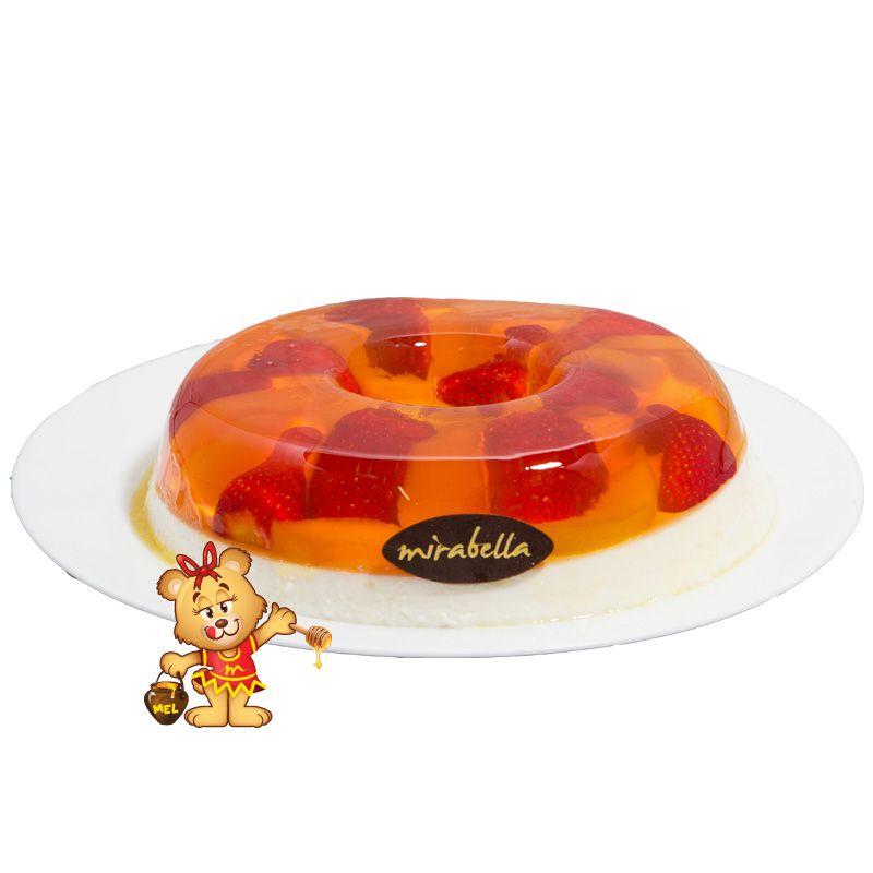 Pudim de Gelatina de Frutas  - www.doceriamirabella.com.br