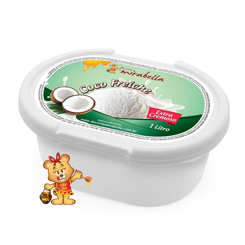 Sorvete Coco Freiche - Pote 1 Litro  - www.doceriamirabella.com.br