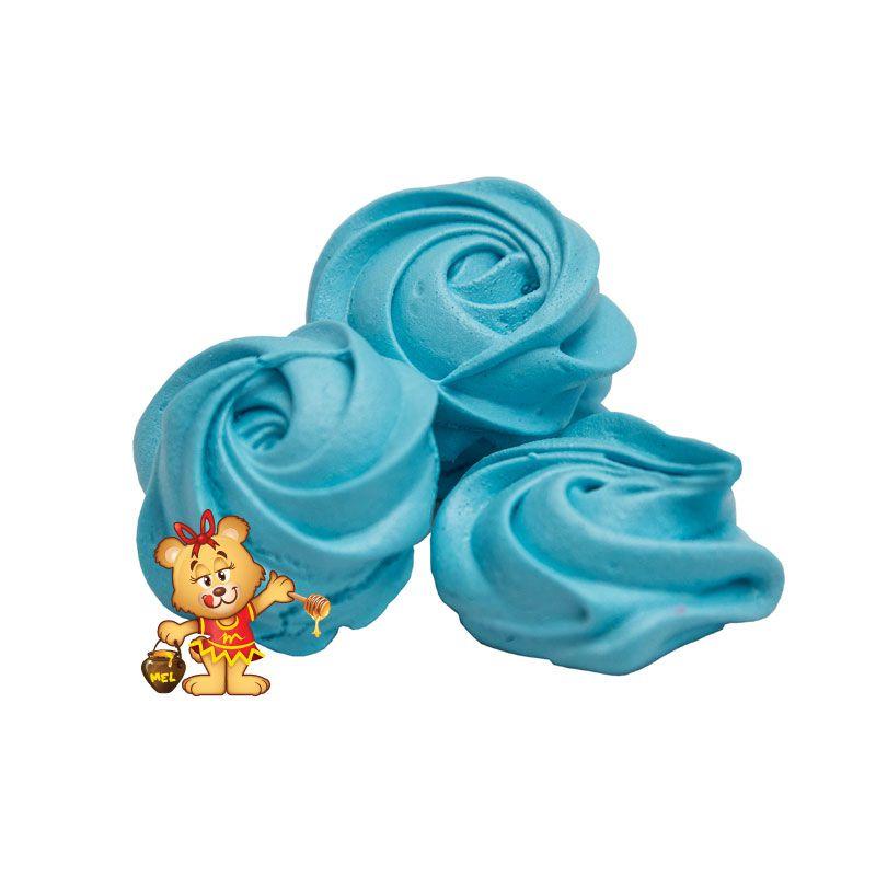Petit Four Suspiro Azul - pedido mínimo 200g  - www.doceriamirabella.com.br