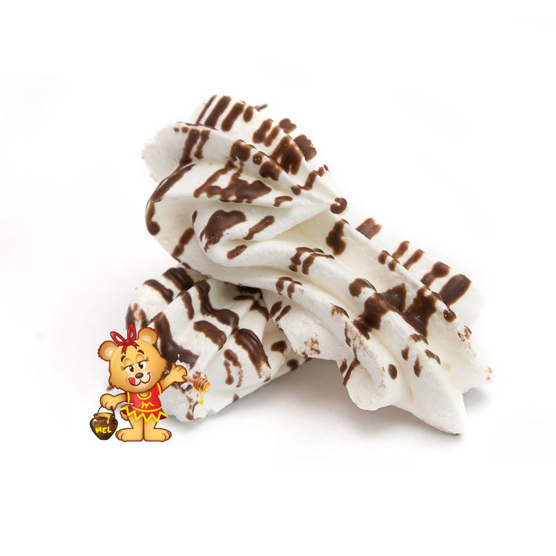 Petit Four Suspiro com Chocolate  - www.doceriamirabella.com.br