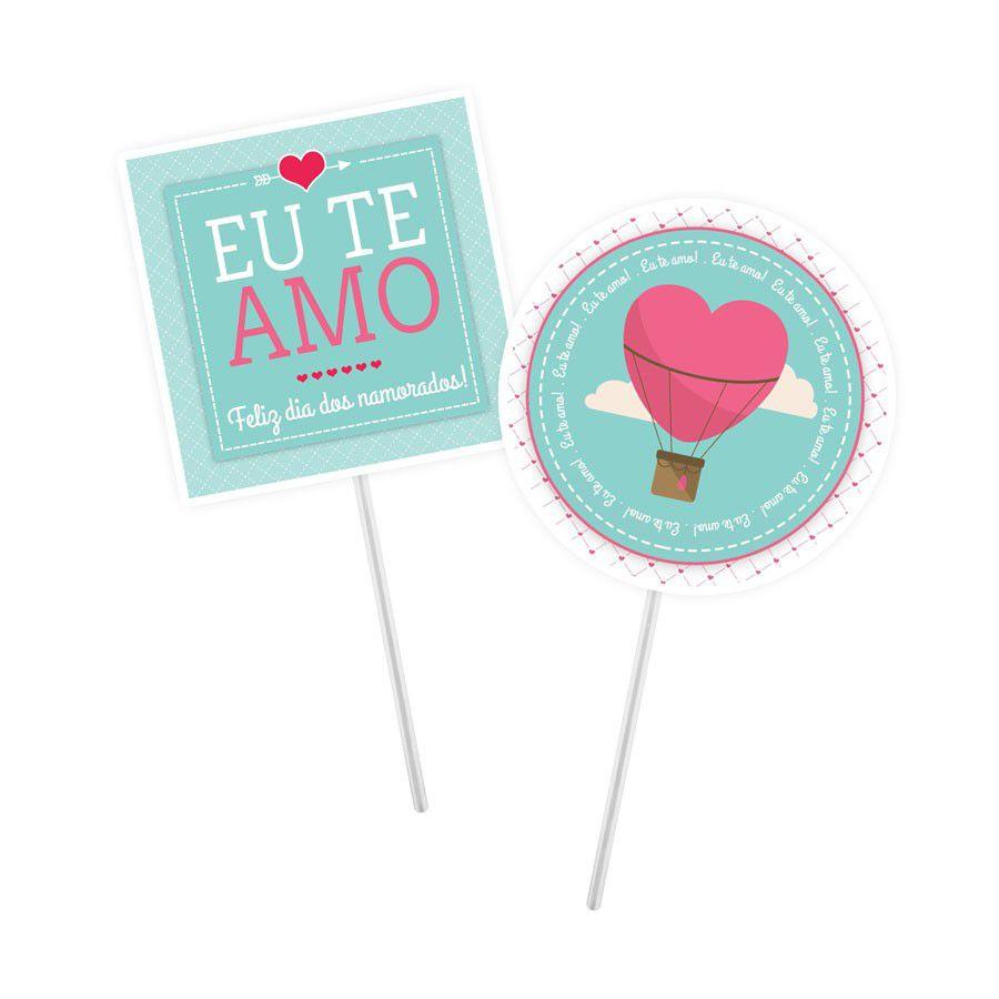 Topper para Doces Amor - 20 unidades sortidas  - www.doceriamirabella.com.br