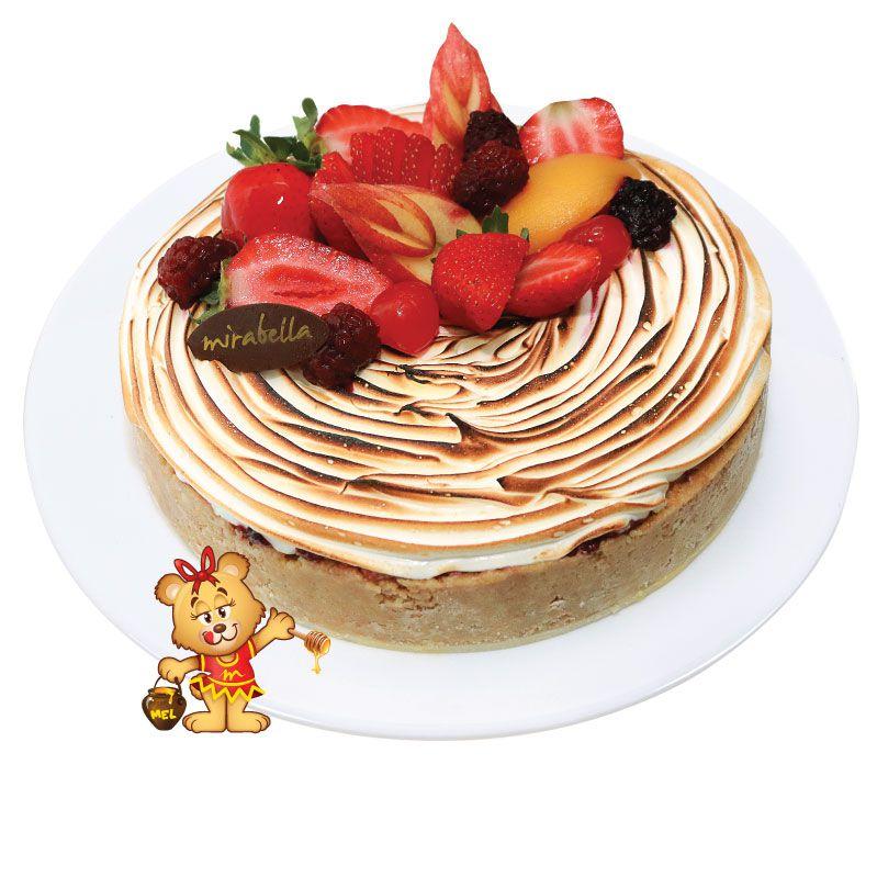 Torta de Frutas Vermelhas  - www.doceriamirabella.com.br