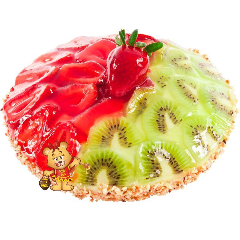 Torta de Morango e Kiwi  - www.doceriamirabella.com.br