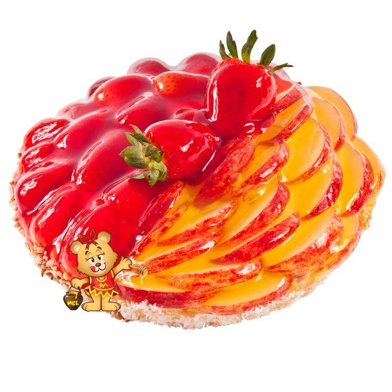 Torta de Morango e Maçã  - www.doceriamirabella.com.br