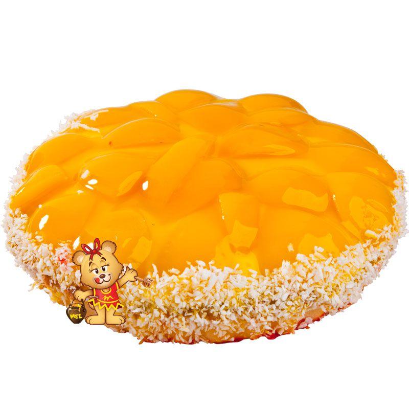 Torta de Pêssego  - www.doceriamirabella.com.br