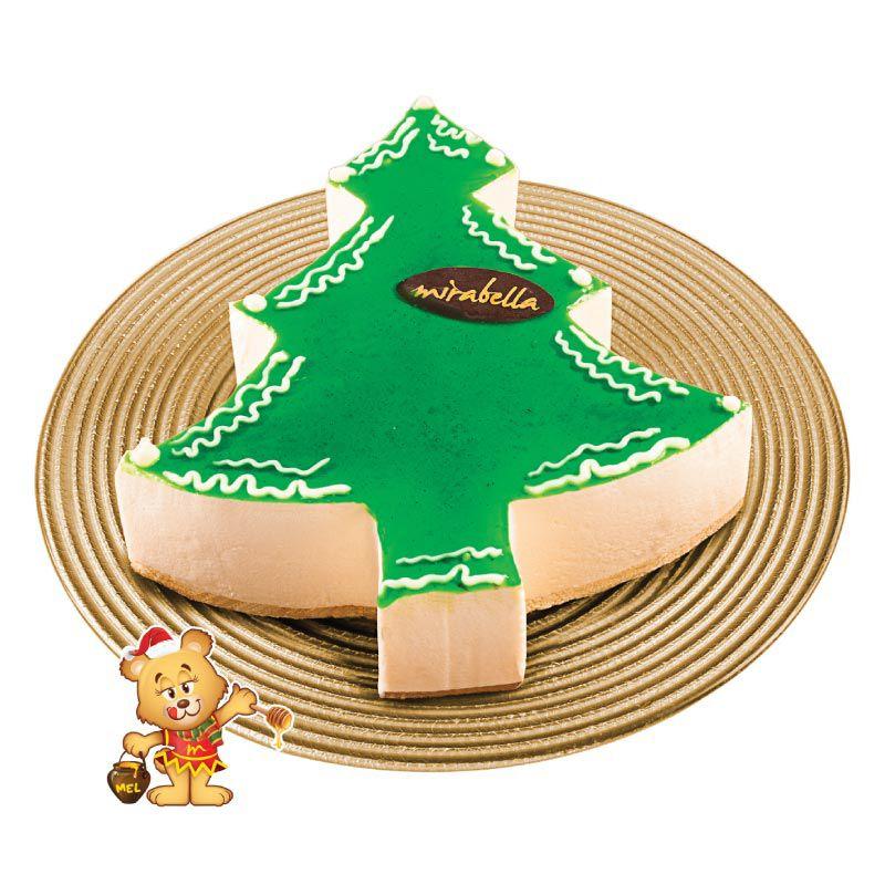Torta Mousse de Árvore de Natal (1kg)  - www.doceriamirabella.com.br