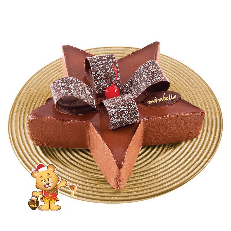 Torta Mousse de Estrela (1kg)  - www.doceriamirabella.com.br