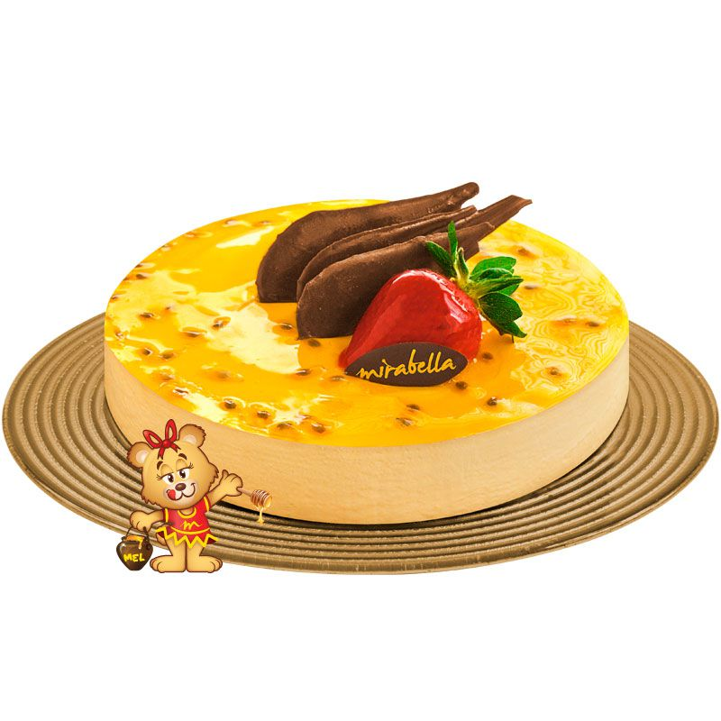 Torta Mousse de Maracujá  - www.doceriamirabella.com.br