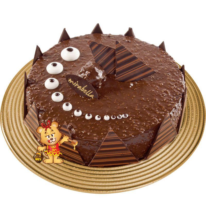 Torta Mousse Ferrero Rocher  - www.doceriamirabella.com.br
