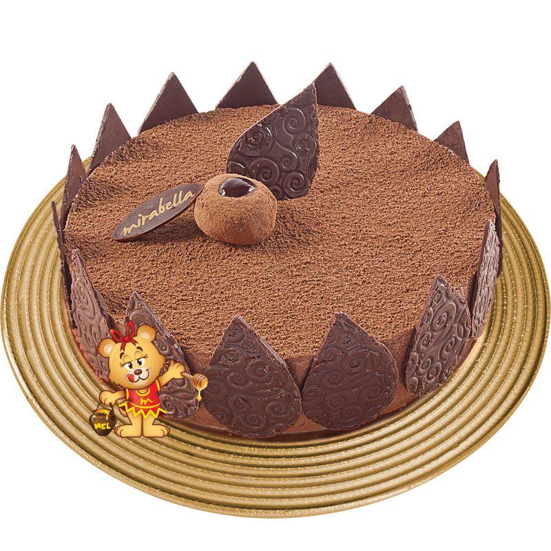 Torta Mousse Trufada  - www.doceriamirabella.com.br