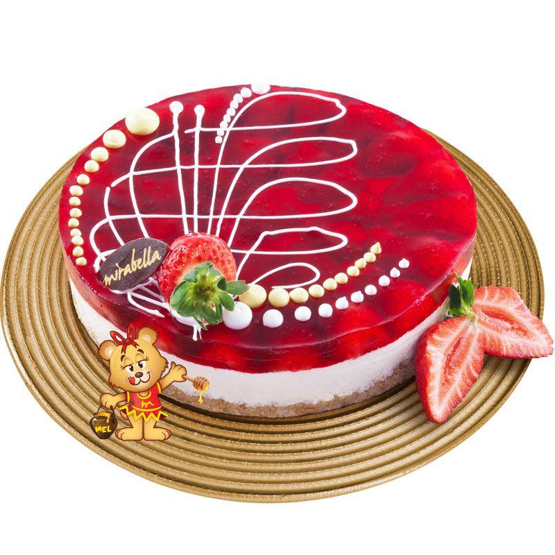 Torta Vidrada de Morango  - www.doceriamirabella.com.br