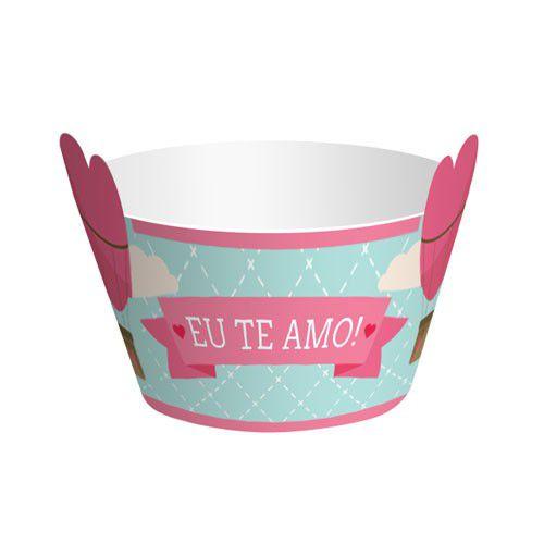 Wrapper para Cupcake Amor - 12 unidades  - www.doceriamirabella.com.br
