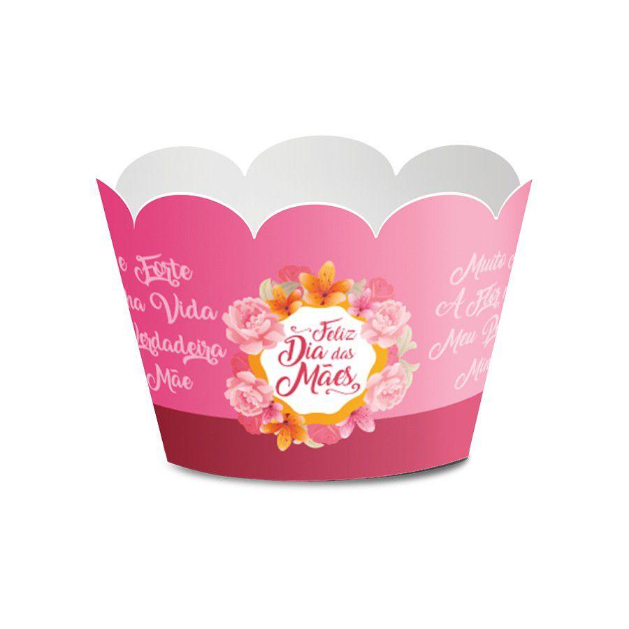 Wrapper para Cupcake Dia das Mães - 12 unidades  - www.doceriamirabella.com.br