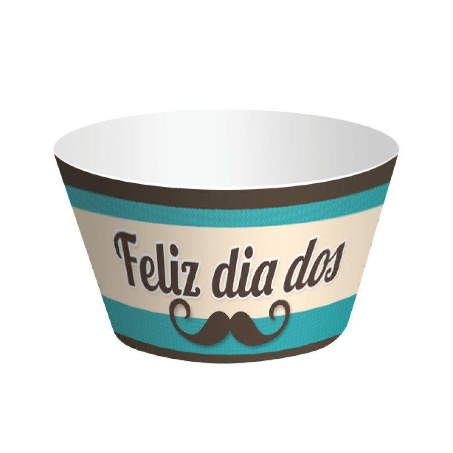 Wrapper para Cupcake Dia dos Pais - 12 unidades  - www.doceriamirabella.com.br