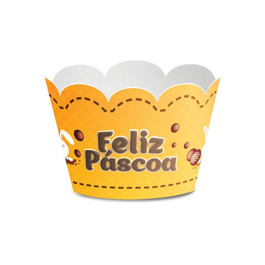 Wrapper para Cupcake Páscoa Amarela- 12 unidades  - www.doceriamirabella.com.br