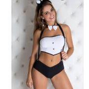Fantasia Coelha Short - Garota Veneno