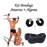 Kit Amarras + Algema Pelucia