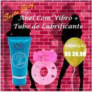 Kit Desejo Anel com Vibro + Lubrificante