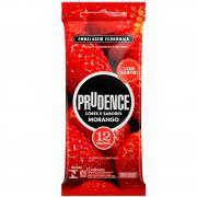 Preservativo Prudence Com 12 unidades Sabor Morango