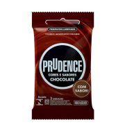 Preservativo Sabor Chocolate Com 3 Unidades - Prudence